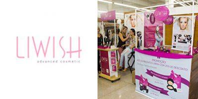 Ação de divulgação da Liwish na Feira Shop - Merchandising na Feira Shop