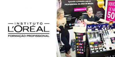 Ação de divulgação da L'Oréal na Feira Shop - Merchandising na Feira Shop