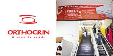 Ação de divulgação da Orthocrin na Feira Shop - Merchandising na Feira Shop