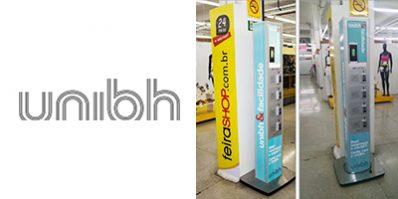 Ação de divulgação da UNIBH na Feira Shop - Merchandising na Feira Shop