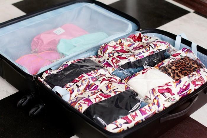 Fazer a mala para as férias