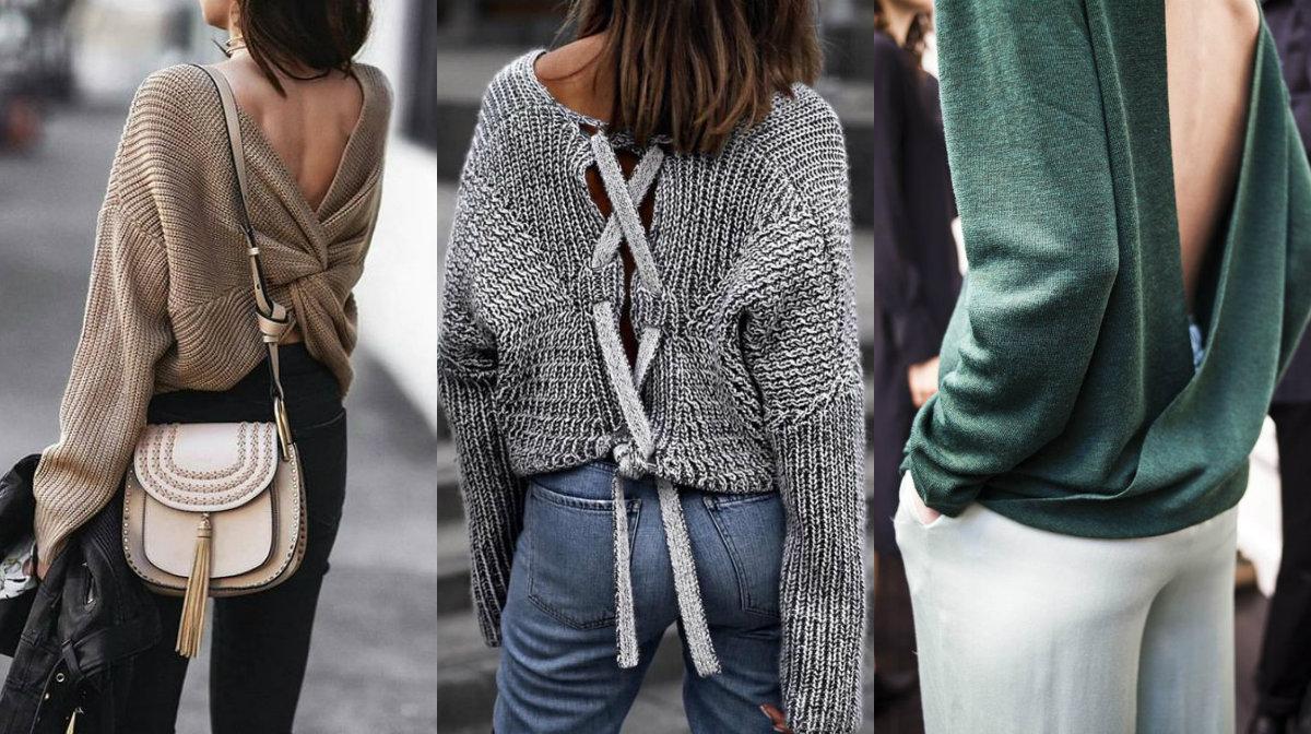 trico com decote nas costas