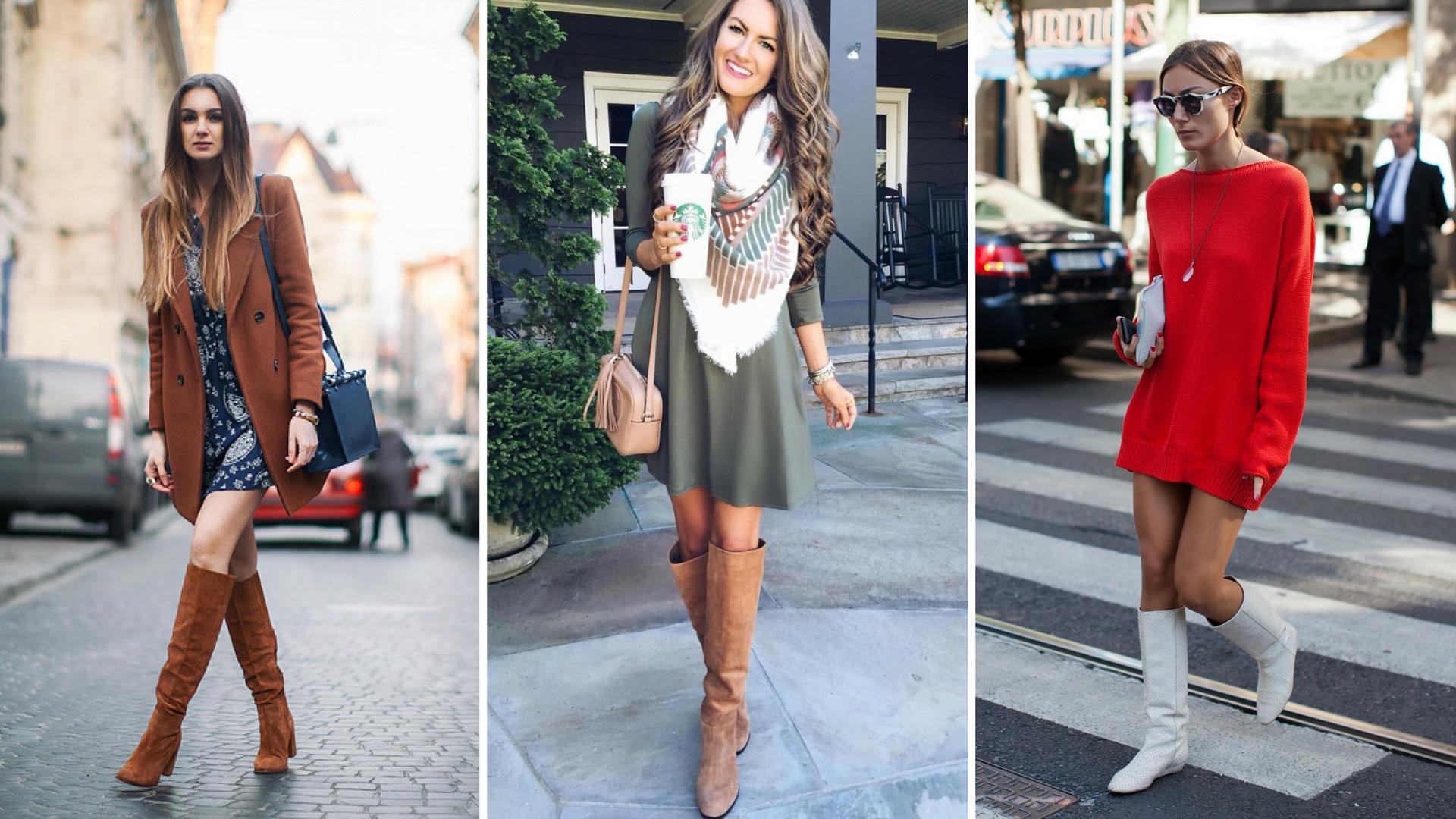 893d594187 Como Usar Vestido Com Bota - Invista Nessa Combinação Fashion