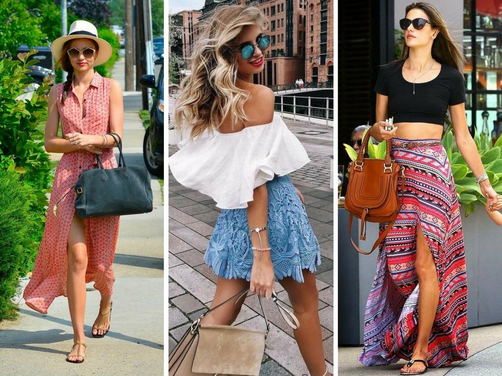 ddfa42a69 Os vestidos curtos combinam muito com o verão. Invista nos tecidos que  listamos acima. Modelos estampados também são ótimas pedidas para um look  praia.