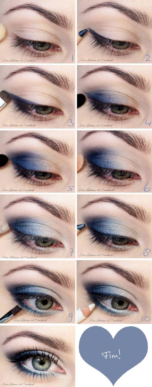 Tutorial de maquiagem azul para um olhar marcante