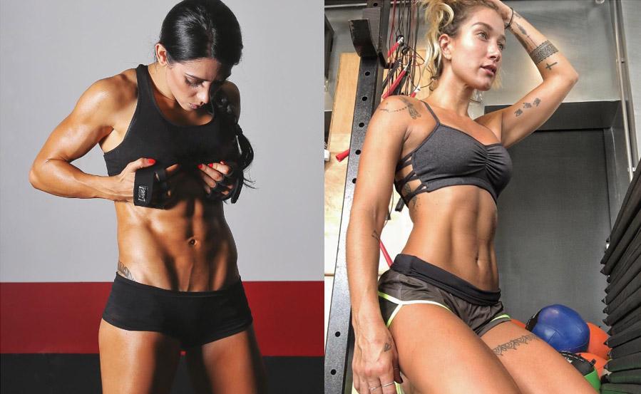 Bella Falconi e Gabriela Pugliesi desfilam beleza no mundo fitness
