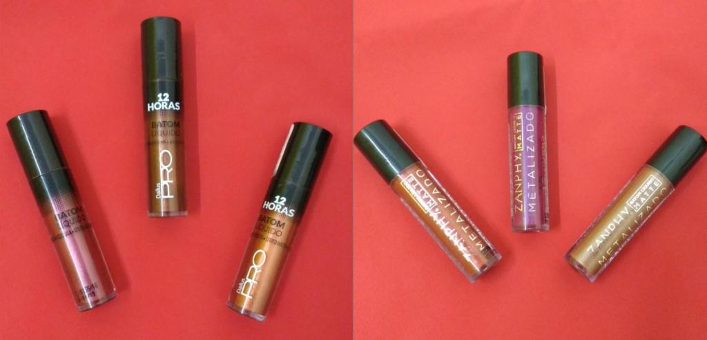 Batons metalizados viram febre entre maquiadores
