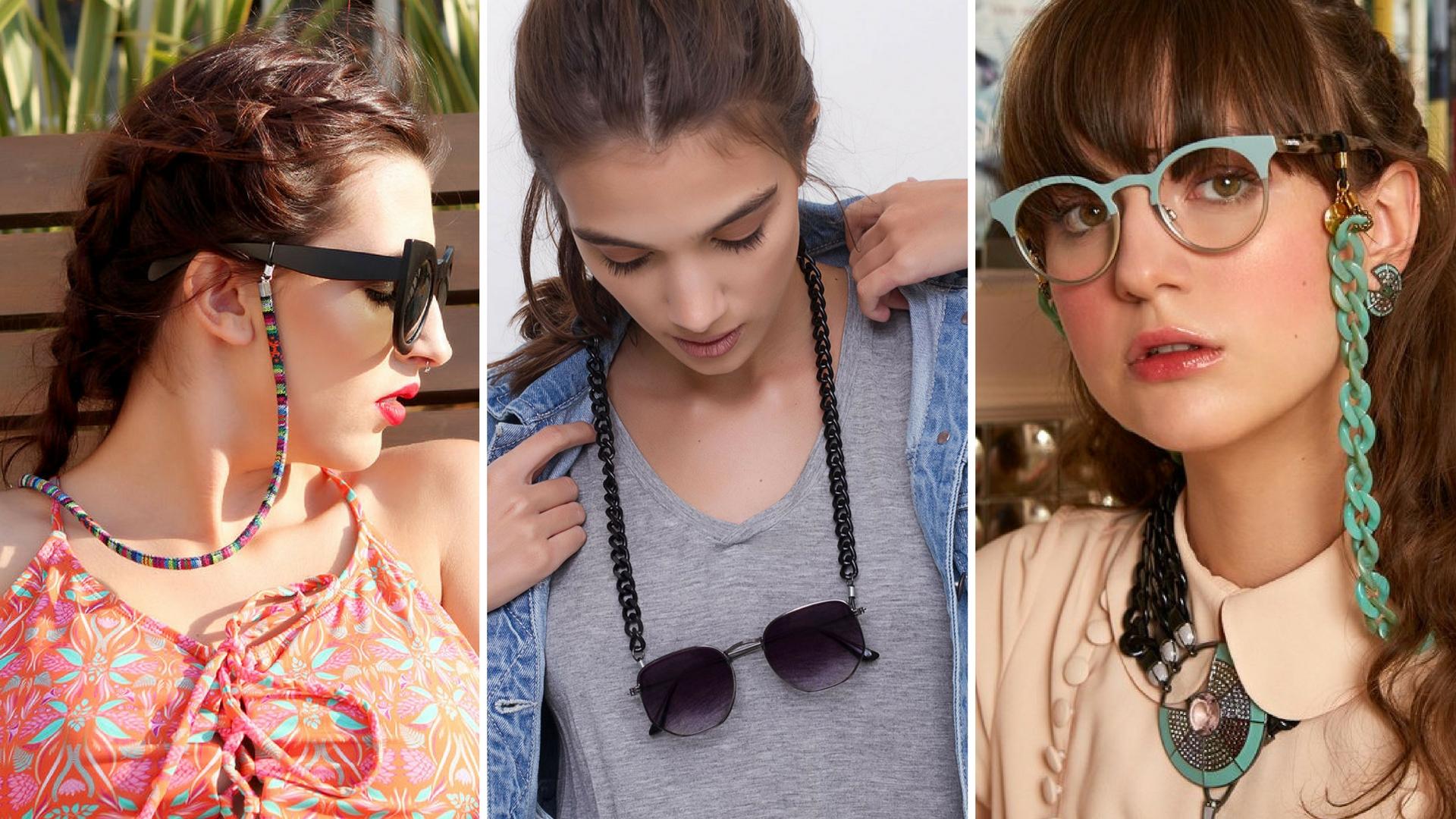 740afa9b5 Aqui na Feira Shop você encontra vários modelos de correntinhas de óculos  para usar e abusar da tendência, confira em nossa categoria de acessórios.