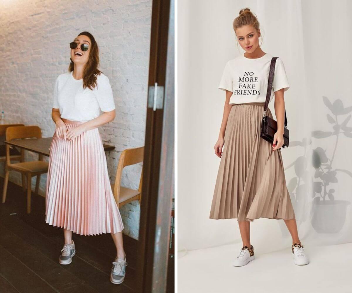 Como usar saia midi dicas blog Feira Shop