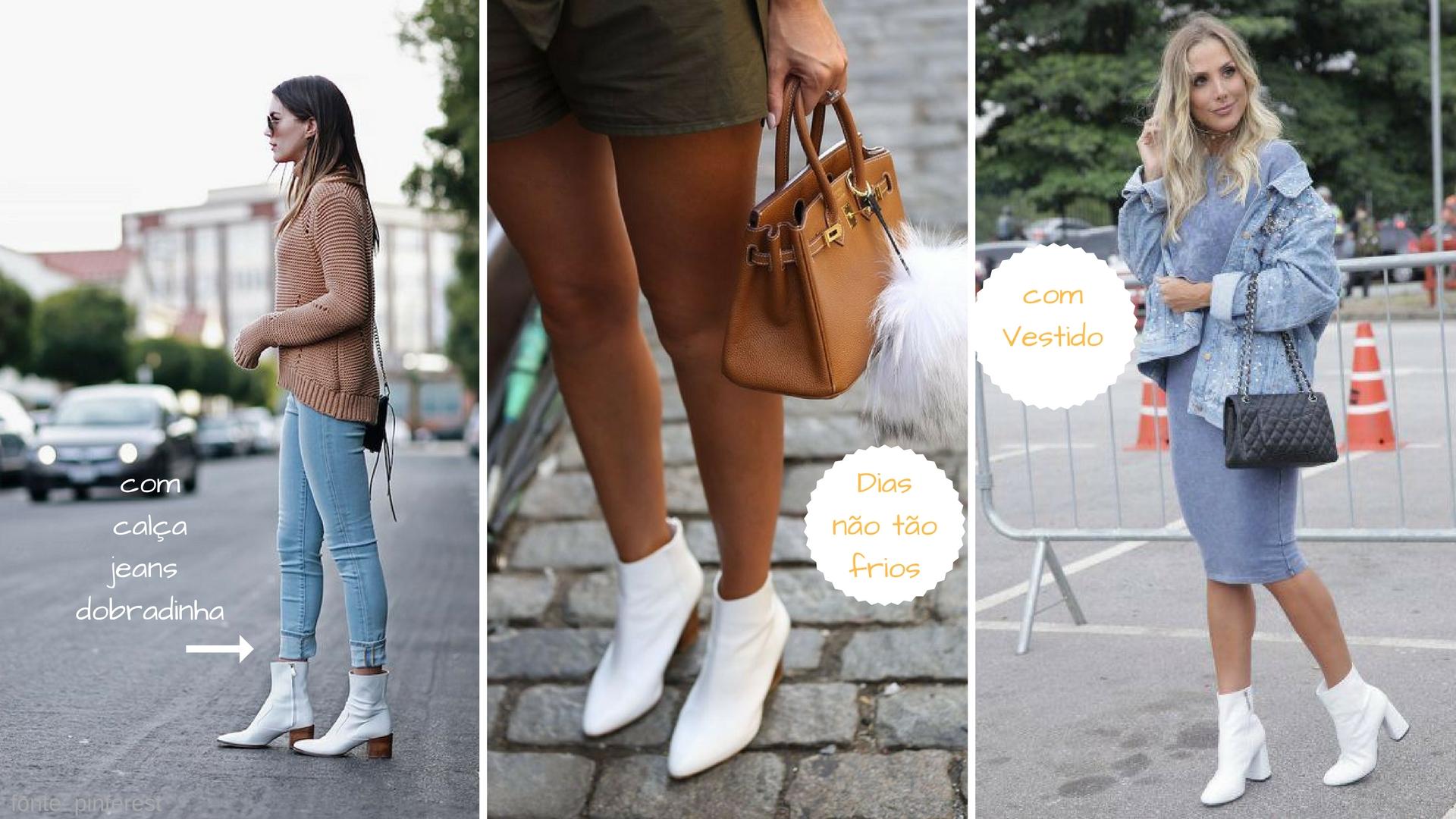 Saiba como combinar botas brancas