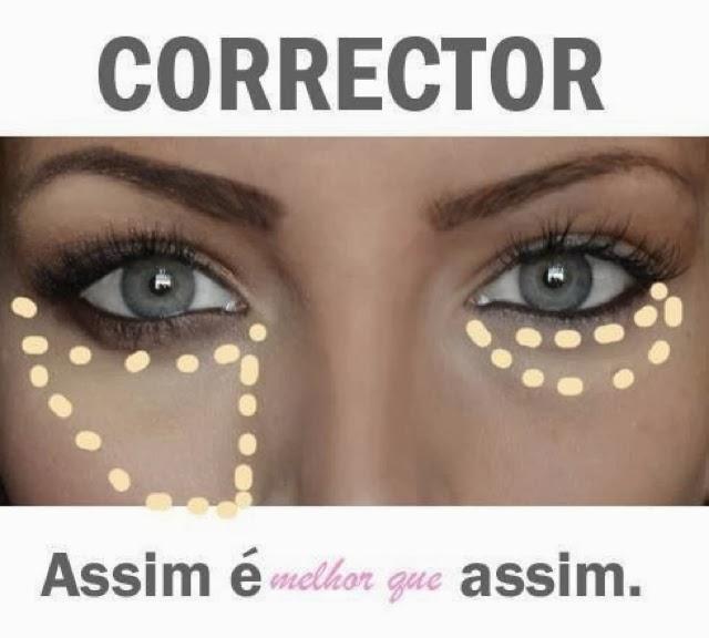 como aplicar corretivo nas olheiras