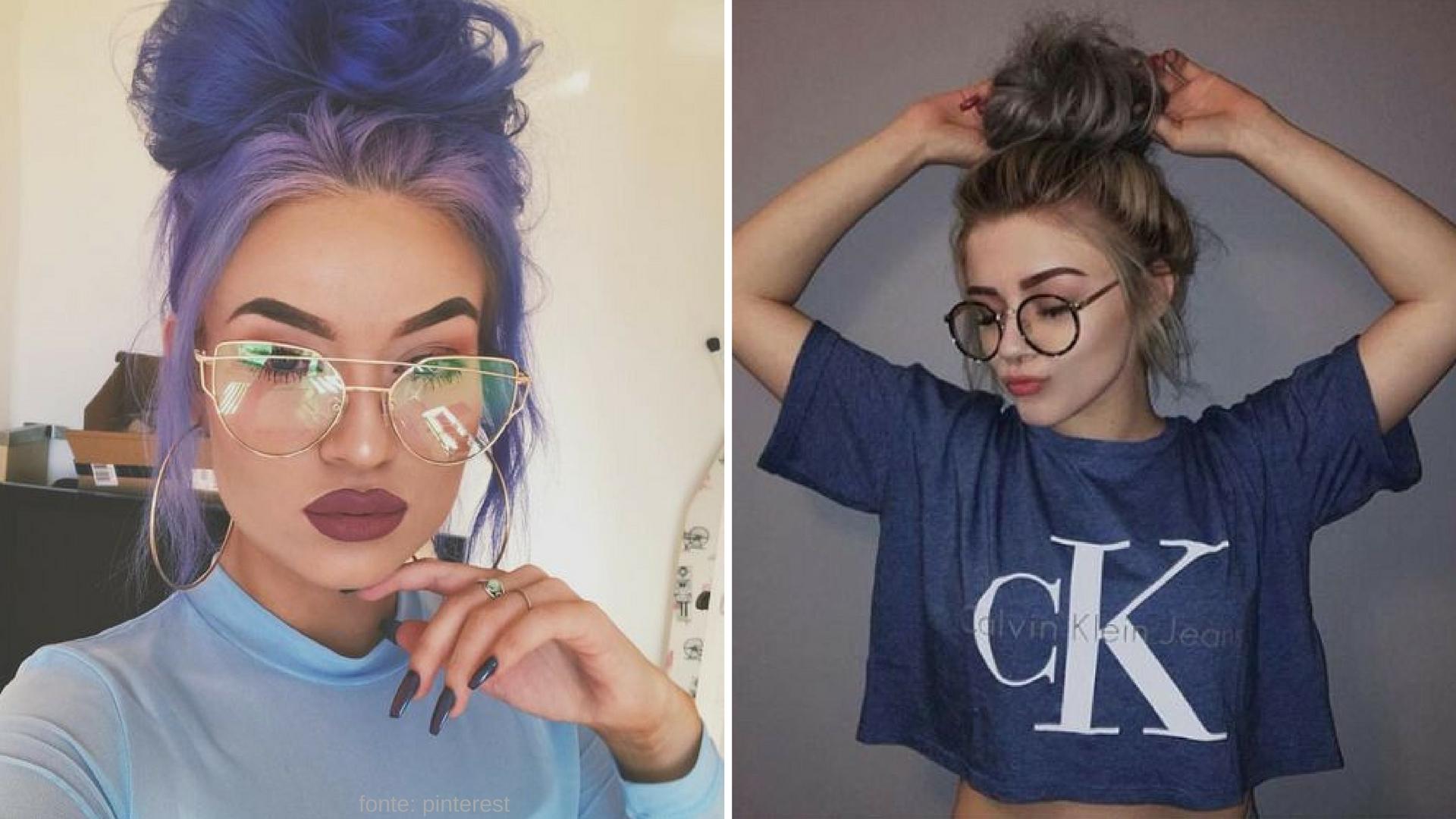 Use óculos sem grau como acessório