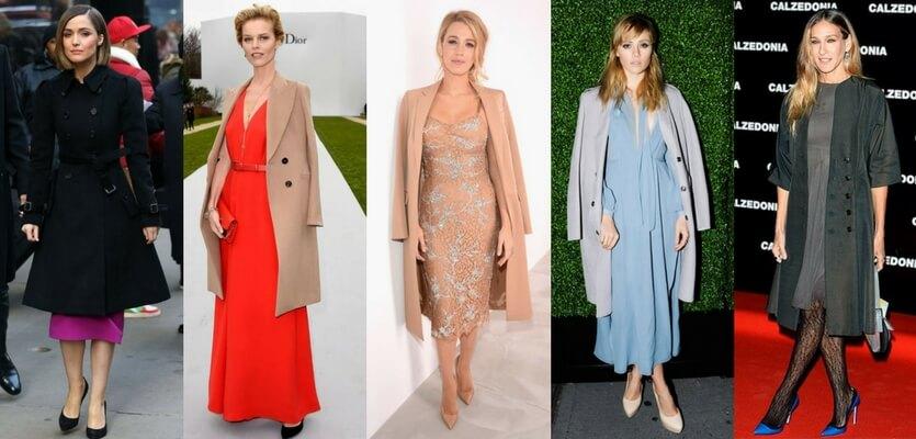 Como usar vestidos de festa no frio com casaco