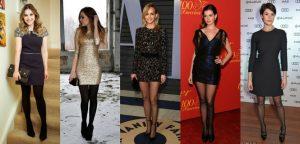 Como usar vestidos de festa no frio com meia calça