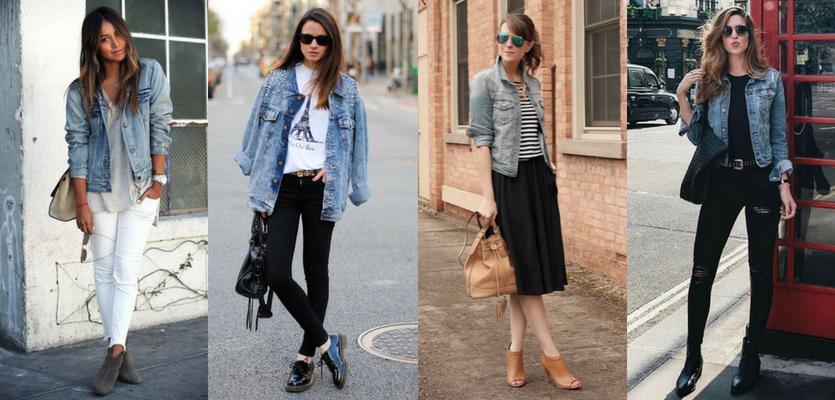 A terceira peça jaqueta jeans