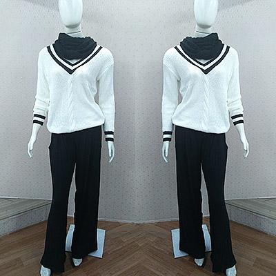 Look blusa manga longa e calça | Al Malhas