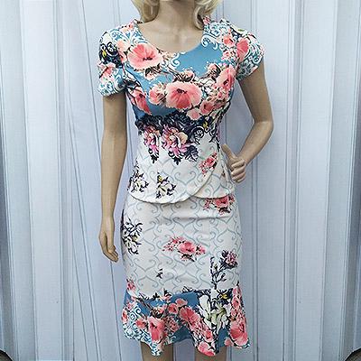 Conjunto blusa e saia floral   Amanda Bela Modas