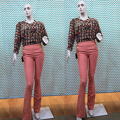 Blusa manga longa e calça | Baluar Moda Feminina