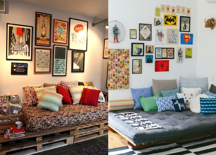 Decoração de quarto com quadrinhos