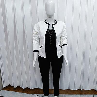 Casaco, blusa e calça | Fabi Ferreira