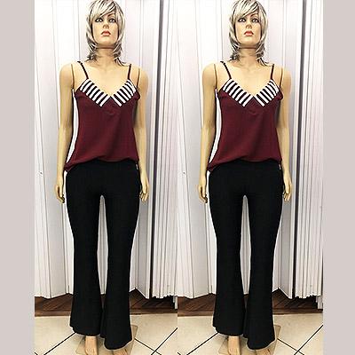 Look regata e calça flere   Glamour Fashion