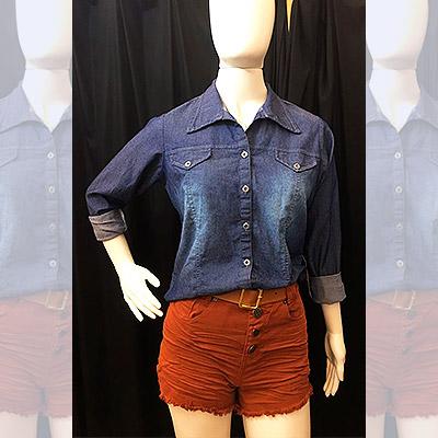 Camisa e short jeans | Liz Jeans