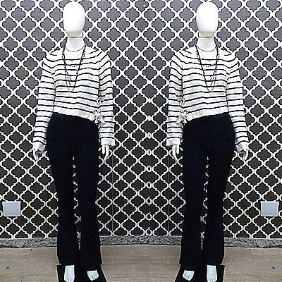 Blusa manga longa e calça   Mega Mania Modas