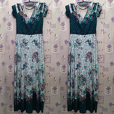 Vestido com estampa floral | Sandra Plus Size
