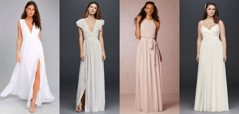 O que vestir no casamento civil - Vestido longo