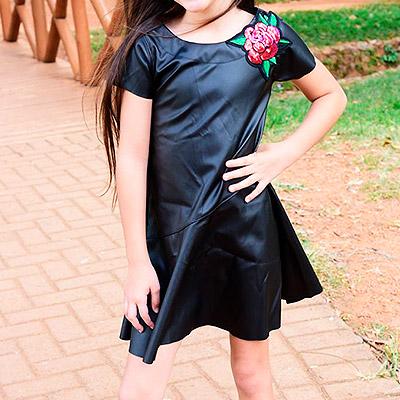 Vestido couro sintético | Planet Kids