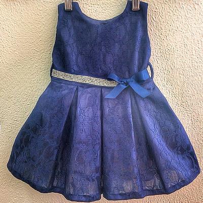 Vestido azul infantil | Cia do Vestido