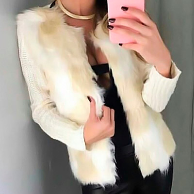 Casaco tricô com pelos | Eliane Dias Modas