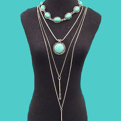 Mix de colares com pedra verde | Lu Biju