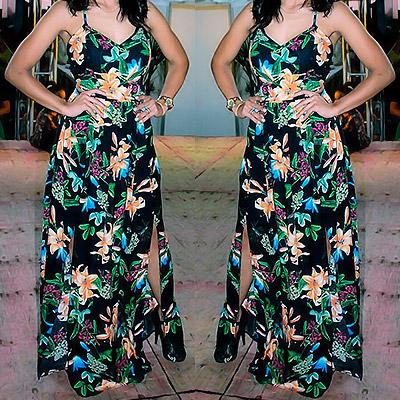 Vestido longo floral | Santíssima