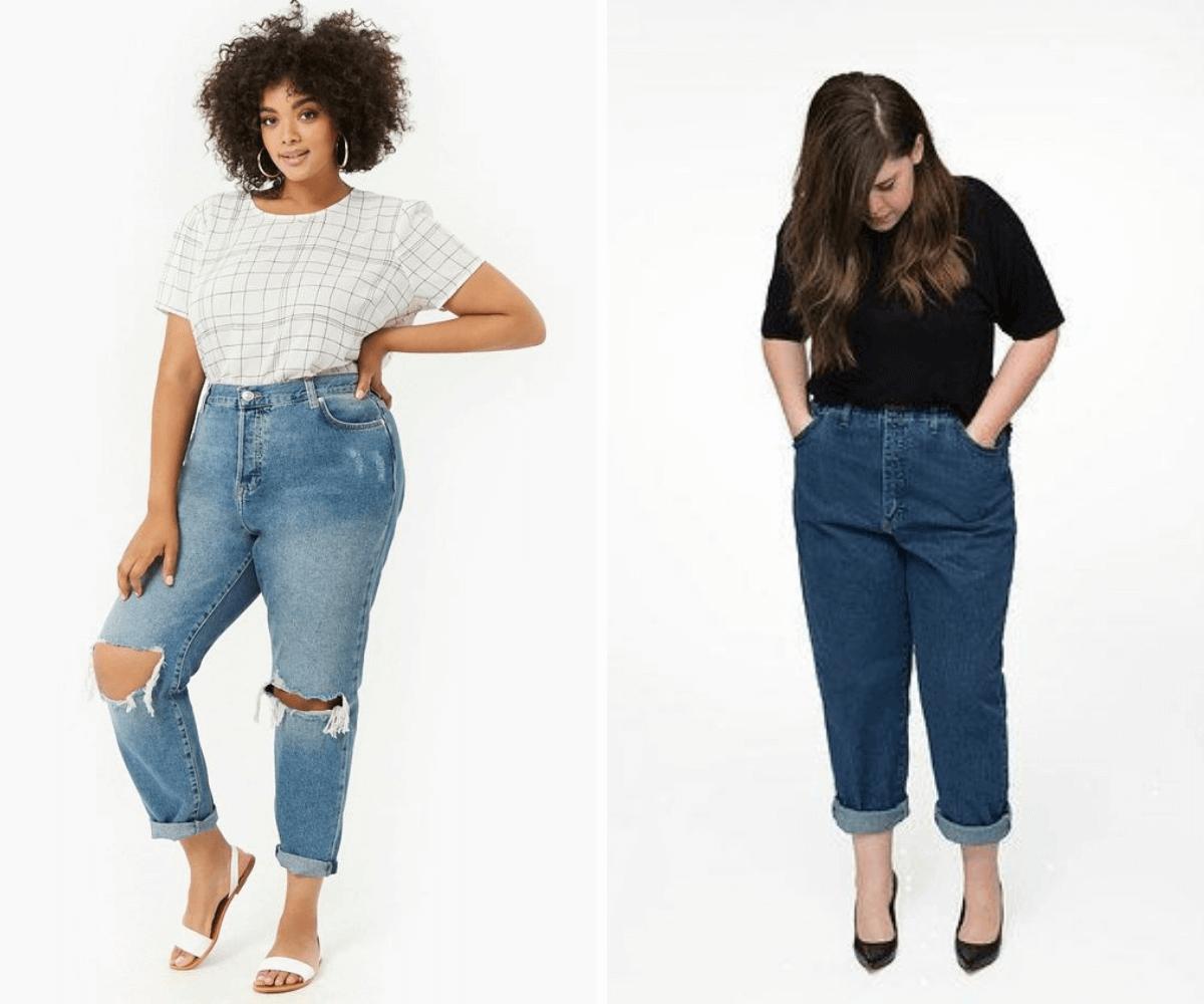 Calça mom jeans plus size tendencia anos 90 outono/inverno blog feira shop bh