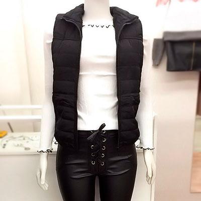 Colete e calça de courinho | Carol Rabelo Store
