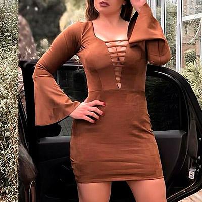 Vestido de suede | Idy Modas