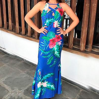 Vestido longo modelo sereia | Jana Look