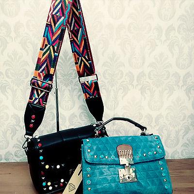 Bolsa com alça colorida | Mallu Modas