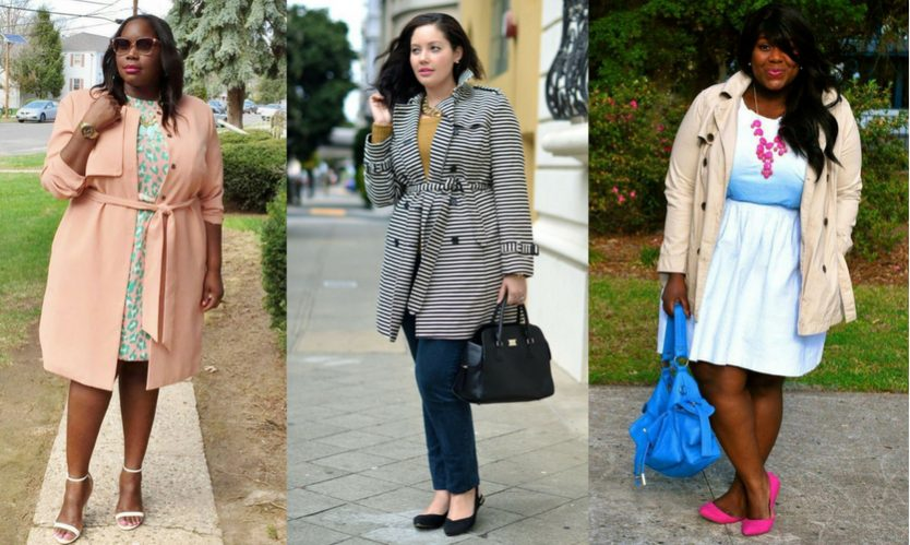 Trench coat para plus size