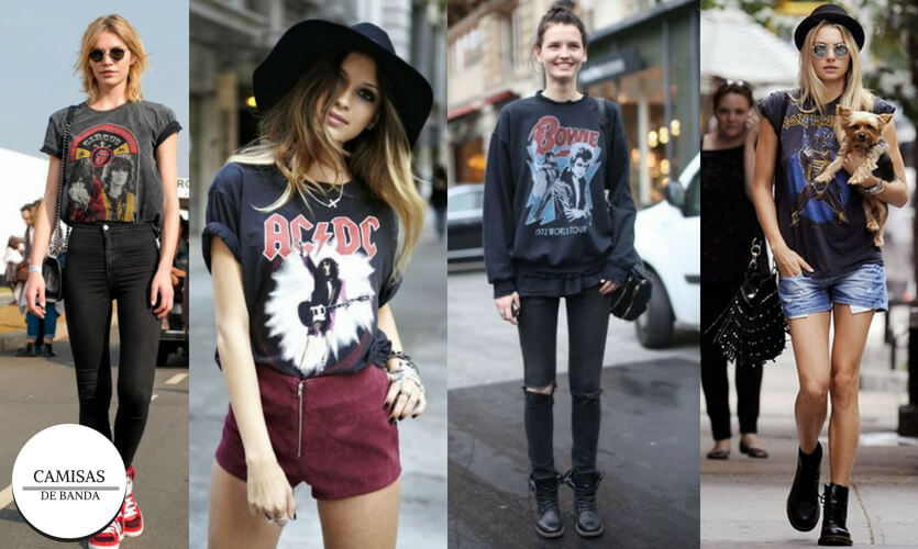 Dia Mundial do Rock: looks camisas de banda