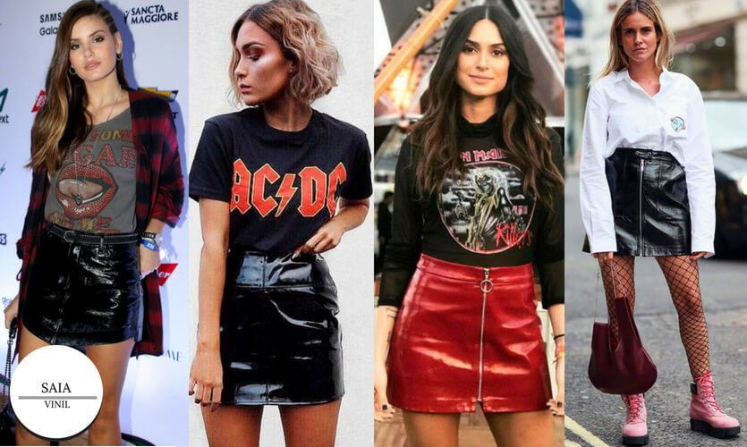 Dia Mundial do Rock: looks vinil