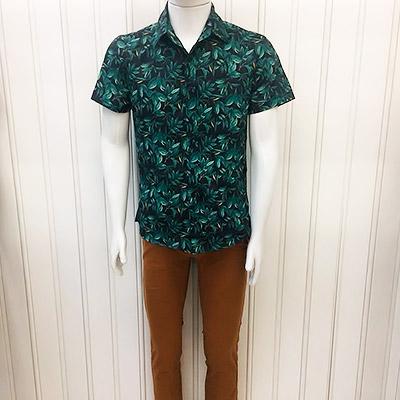 Camisa floral social e calça lycra | Barcellos & Maia