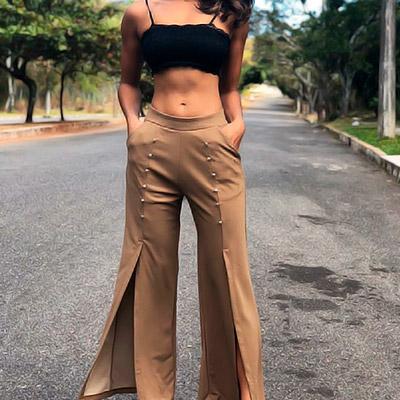 Calça com fenda | Ceceli Modas