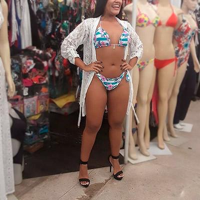 Biquíni ripple e saída de praia | Ana Lúcia Moda Íntima