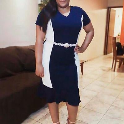 Vestido crepe de malha | Fina e Bela Moda Evangélica