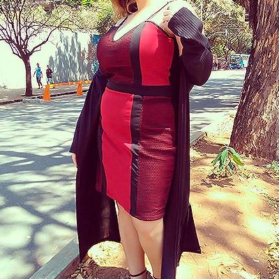 Vestido de alcinha   Roupa Bonita Plus Size