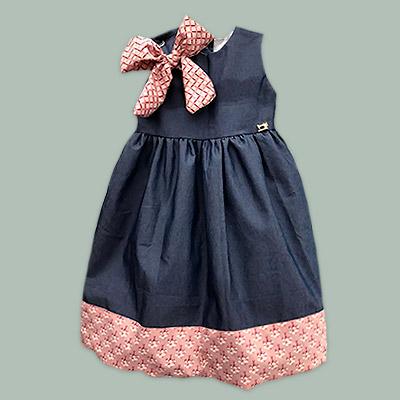 Vestido infantil   Vestindo Bia