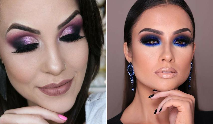 maquiagem verão - Roxo e azul
