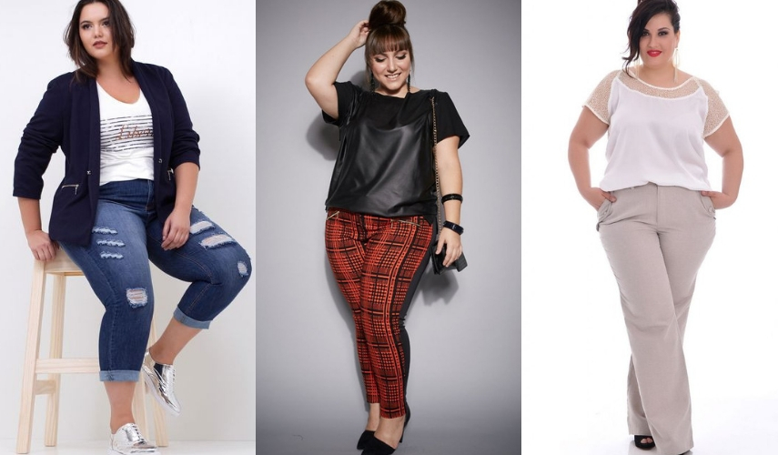 moda Plus Size - calca